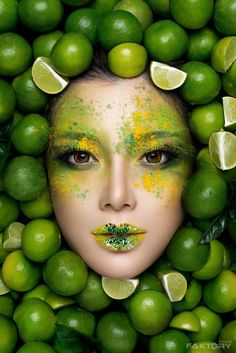 Lime by ImageFaktory - Image Of The Month Photo Contest Vol 22 Source link Fruit Photography, Conceptual Photography, Makeup Photography, Creative Photography, Portrait Photography, Foto Face, Fotografie Portraits, Fruit Shoot, Kreative Portraits