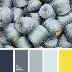 In Color Balance - Color Palette Colour Pallette, Color Palate, Colour Schemes, Silver Color Palette, Room Colors, House Colors, Paint Colors, Bedroom Colours, Pantone Azul