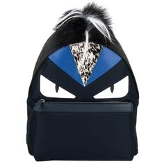 Pre-owned Fendi Bugs Monster Leather & Fur Backpack ($2,300) ❤ liked on Polyvore featuring bags, backpacks, bags backpacks, fendi, handbags, zip bag, fendi backpack, fendi bags and leather bags