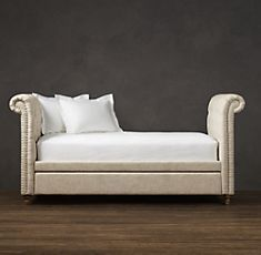 Daybeds   Restoration Hardware. Finally found it, for Caitlyn. Her princess daybed <3