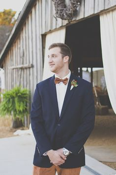 Navy and brown Groom looks. Ideal for a rustic wedding. @weddingchicks