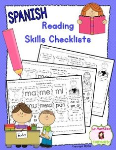 Spanish Guided Reading Tools: Reading Skills Checklists for both decoding and comprehension skills. Take the mystery out of learning to read with explicit goals and assessments for students! $