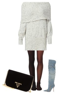 """""""Untitled #1434"""" by antoniajulia on Polyvore featuring Wolford, Joie, Dolce&Gabbana and Prada"""