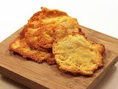 Baked Cheese Crisps - the perfect addition to a soup or salad.  Low Carb and great protein.  www.cfwls.com/
