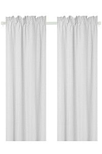 2 Pack Microfibre Taped Curtain, - Curtains & Blinds - S