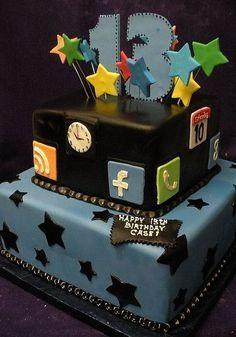 Birthday Cake Fondant Girl Boys Ideas For 2019 Birthday Cakes For Men, 13th Birthday Parties, Birthday Party For Teens, Birthday Dinners, Birthday Cupcakes, Birthday Ideas, Happy Birthday, Birthday Boys, Birthday Recipes