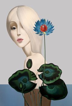 Slava Fokk ''Lotus'' oil on canvas 150x110cm 2014
