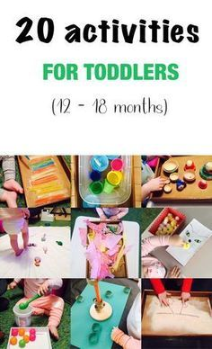 20 activities for 12-18 months old
