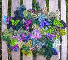 Fairies in the Bramble Patch - Crochet, bead crochet, needleweaving and needlefelting