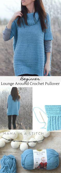 f41cbcb66 Softest Lounge Around Pullover Crochet Pattern