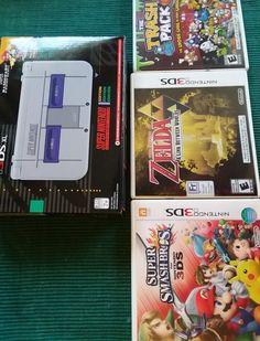 New Nintendo 3DS XL SNES Limited Edition w/ Zelda, Smash Bros, Mario Kart, More.: $110.00 (0 Bids) End Date: Saturday Mar-10-2018 17:45:52…