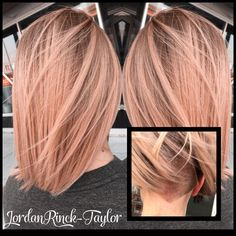 Rose Gold Hair Antique Rose Hair Shaved undercut. Instagram @jordanrincktaylor