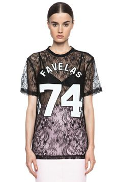 GIVENCHY | Lace Knit Favelas Tee in Black