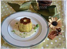 Flan di broccoli con salsa al parmigiano