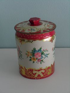 Vintage English Tin Canister