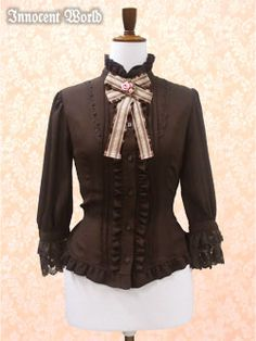 Innocent World's Rose Brooch Blouse in Brown