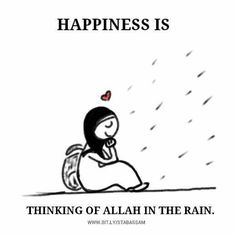 I do tend to do this hehe..and I make a little prayer too..my grandma used to say when it rains the heavens are open so whatever dua you make is granted to be heard by Allah..