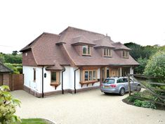 Extensions and alterations to a chalet bungalow, Puttenham, Surrey - Portfolio Bungalow Extensions, House Extensions, Garden Front Of House, House Front, Bungalows, Style At Home, Bungalow Loft Conversion, Loft Conversions, Roof Styles