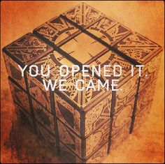 Hellraiser, Clive Barker, --- Read it in Pinhead's voice. Horror Icons, Horror Art, Scary Movies, Horror Movies, Horror Villains, Dark Fantasy, Horror Monsters, Danse Macabre, Best Horrors