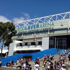"""See 1556 photos and 51 tips from 7898 visitors to Rod Laver Arena. """"Players fighting the heat for a chance to win these beauties. Rod Laver Arena, Play Tennis, Four Square, Melbourne, Destinations, Fair Grounds, World, Travel, The World"""