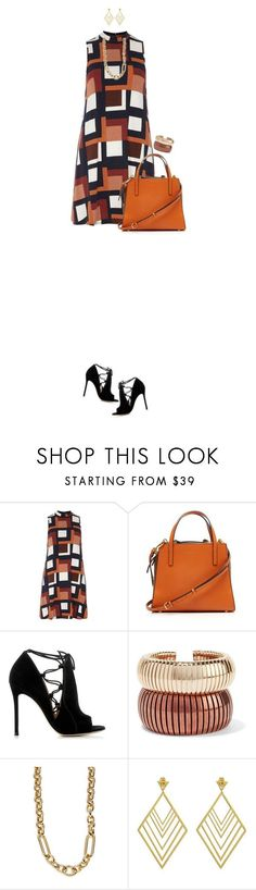 """Orange Bag For Fall"" by ittie-kittie ❤ liked on Polyvore featuring Dorothy Perkins, Marni, Gianvito Rossi, Rosantica, Kate Spade, Gorjana, Fall, OrangeBag, fallfashion and fallstyle"