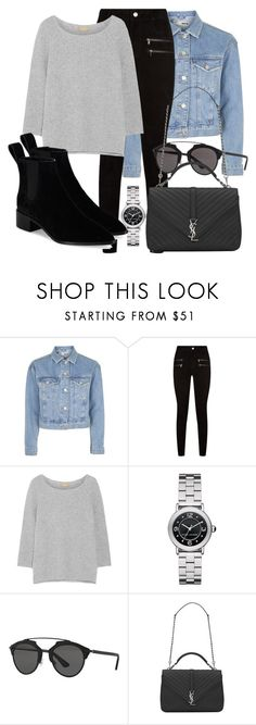 """Untitled #4801"" by beatrizvilar ❤ liked on Polyvore featuring Topshop, Paige Denim, Michael Kors, Marc Jacobs, Christian Dior, Yves Saint Laurent and Loeffler Randall"