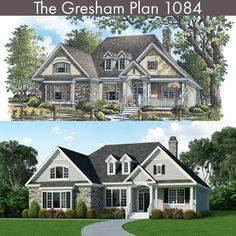 The Gresham Plan 1084 - Before and after renderings! #WeDesignDreams #DonGardnerArchitects