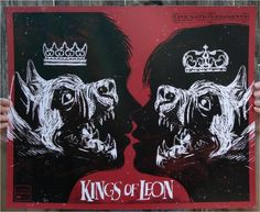 Kings of Leon 2009 Tour Art Poster designed by Todd Slater