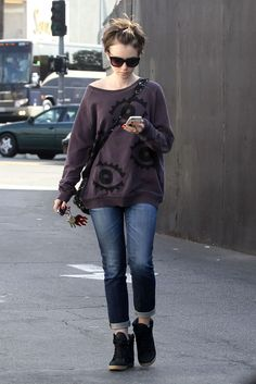 Lily Collins in Jeans Out in West Hollywood