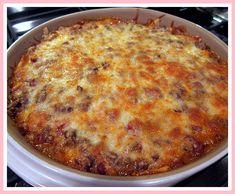 1 lb lean ground beef 1 can Ranch Style beans 1 10 oz bag tortilla chips, crushed 1 can Ro-tel tomatoes 1 small onion, diced 2 C shredded ColbyJack cheese, divided 1 package taco seasoning 1 can cream of chicken soup ⅓ C water Pork Casserole Recipes, Easy Mexican Casserole, Hamburger Casserole, Rice Casserole, Ground Chicken Casserole, Chipped Beef, Baked Chicken Recipes, Ground Beef Recipes, Cooker Recipes