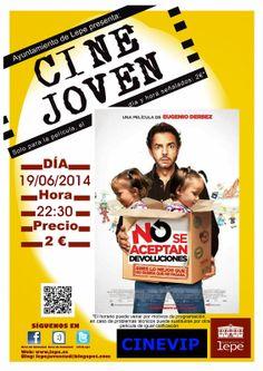 #Cine Joven presenta: No se aceptan devoluciones. El jueves, 19 de junio a las 22:30h. en Cinevip #Lepe