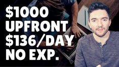 $1000 Upfront $136/Day Work-From-Home Jobs No Experience Required 2021 Work From Home Careers, Video Notes, Day Work, Earn Money, Earning Money