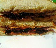 "Peanut butter raisins and jelly! ""yummy""  @allthecooks #recipe #sandwich"