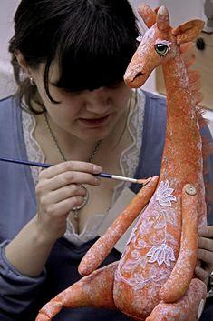 Нежный Жираф своими руками (мастер-класс) - Ярмарка Мастеров - ручная работа, handmade