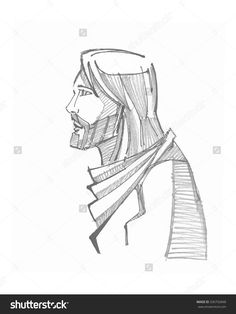 Hand Drawn Vector Illustration Or Drawing Of Jesus Christ - 336792848 : Shutterstock
