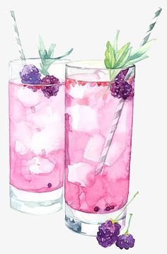 Drawing mulberry beverage PNG and Clipart Food Art Painting, Painting & Drawing, Drawing Drawing, Watercolor Food, Watercolor Paintings, Watercolour, Food Illustrations, Illustration Art, Food Sketch