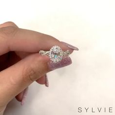 Spiral Oval Engagement Ring - Sylvie Collection - - Ring in the with Thinking of mixing it up in find our - Beautiful Engagement Rings, Halo Engagement Rings, Vintage Engagement Rings, Wedding Engagement, Wedding Rings, Designer Engagement Rings, Engagement Ring Settings, Pretty Rings, Beautiful Rings