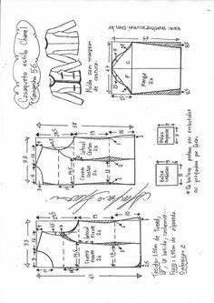 Blazer spencer sem gola - DIY - molde, corte e costura - Marlene Mukai T Shirt Sewing Pattern, Blazer Pattern, Jacket Pattern, Hoodie Pattern, Coat Patterns, Clothing Patterns, Sewing Patterns, Vogue Patterns, Vintage Patterns