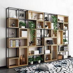 Wohnideen TENGZHEN storage shelf, large storage shelf, storage cube shelf, lattice cabinet storage s Toy Storage Shelves, Cube Shelves, Cube Storage, Storage Hacks, Cabinet Storage, Office Storage, Office Setup, Iron Storage, Book Cabinet