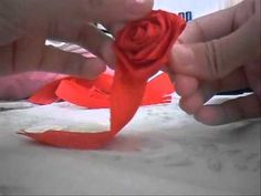 Step how to make roses from crepe paper. its easy (If u practice a lot), fun and low cost. the song: Baby, can I hold you - Boyzone You Needed me - Boy. Diy Home Crafts, Easy Crafts, Coffee Filter Roses, Crepe Paper Roses, How To Make Rose, Tissue Paper Flowers, Good Tutorials, Crafts To Make And Sell, Valentine Decorations
