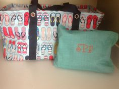 Turquoise Cross Pop looks great with the new Fun Flops print to make a great solution set for the beach or pool!