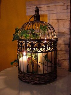 Decorar Con Jaulas Candle Centerpieces Country Decor Accent Bird Cages Decorative