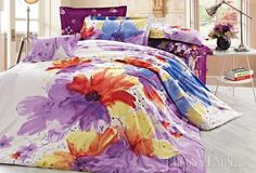 US$114.99 Beauty Color Watermark Image 4 Piece Cotton Comforter Sets with Printing. #Sets #Comforter #Piece #Image