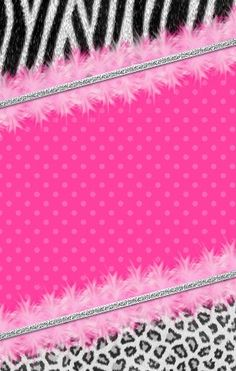 Girly Pink and black #Wallpaper #iphone