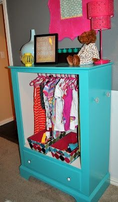 Turn An Old Dresser Into A Dress Up Wardrobe For Little Girls! Great Idea!