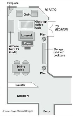 furniture arrangement for a long narrow living room | home making