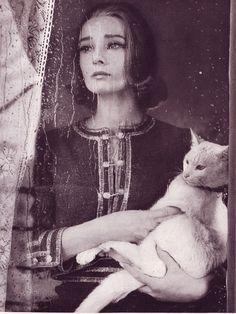 Audrey Hepburn photographed by Richard Avedon for Harpers Bazaar. Paris, 1959.