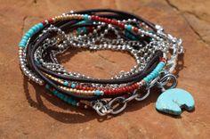 Boho Sante Fe Endless Leather Wrap Bracelet por fleurdesignz