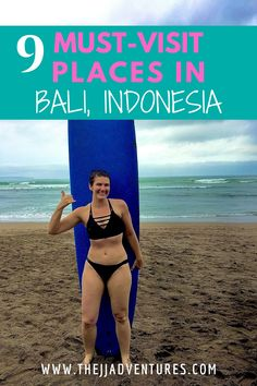 Bali is a dream destination at the top of many traveler's bucket lists. With world-class beaches, rich and diverse culture, majestic water temples, vast rice terraces, and active volcanoes – the little island in the heart of Indonesia has a unique and incredible beauty. There is no place quite like it. Here are 9 Must-Visit Places in Bali #jjadventures #travelblog #travel #bali #indonesia #thingstodo #balilife