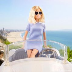Barbie ~ stopping for a serene scenic moment while cruising down the coast! Bad Barbie, Barbie Model, Barbie Life, Barbie World, Barbie Style, Doll Clothes Barbie, Barbie Dress, Barbies Dolls, Barbie Fashionista Dolls